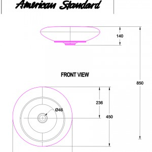 Chậu Rửa Lavabo Đặt Bàn American Standard WP-F643 Dòng IDS Natural