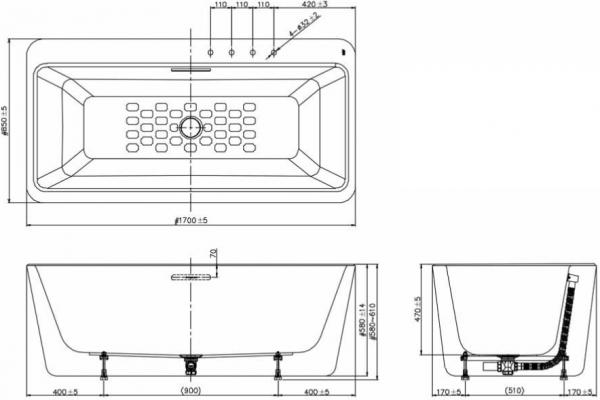 Bồn Tắm Đặt Sàn American Standard BTAS6719 Acacia E