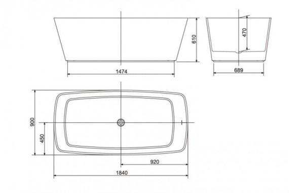 Bồn Tắm Đá Đặt Sàn Zenistone American Standard BTAS9831