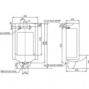 Bồn Tiểu Nam Cảm Ứng American Standard WP-6506 Treo Tường