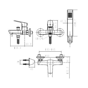 Vòi Sen Tắm American Standard WF-0411 Nóng Lạnh