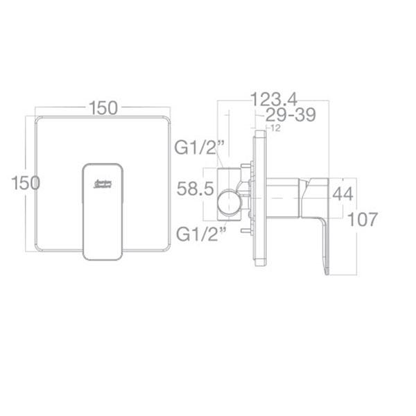 Vòi Sen Tắm American Standard WF-1322 Âm Tường