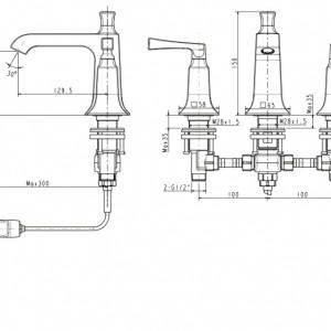 Vòi chậu Lavabo American Standard WF-1603 Nóng Lạnh 3 Lỗ
