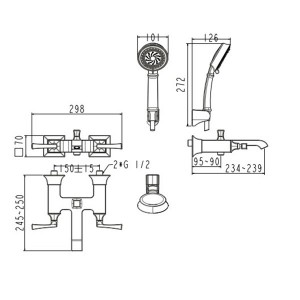 Vòi Sen Tắm American Standard Ventuno WF-1611 Nóng Lạnh