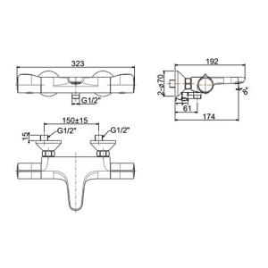 Vòi Sen Tắm Nhiệt Độ American Standard WF-4949