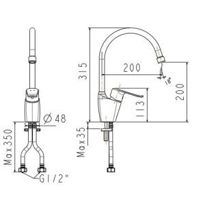 Vòi Bếp Nóng Lạnh American Standard WF-5624