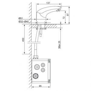 Vòi Chậu Lavabo Cảm Ứng American Standard WF-8601