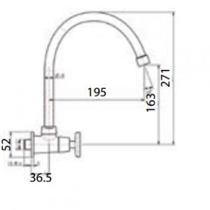 Vòi Bếp Lạnh American Standard WF-T707