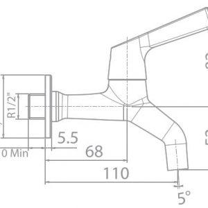 Vòi Sen Tắm Lạnh Gắn Tường American Standard WF-T603