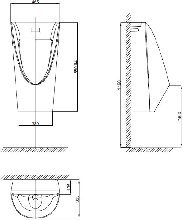 Bồn Tiểu Nam Cảm Ứng American Standard WP-6507 Treo Tường