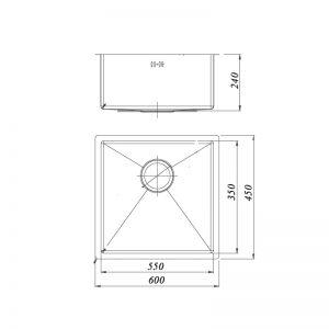 Bản-Vẽ-Kỹ-Thuật-Chậu-Rửa-Bát-Roslerer-RL01-6045-1-Hố