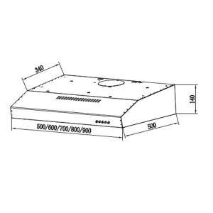 Bản Vẽ Kỹ Thuật Máy Hút Mùi Eurosun EH-70C05N