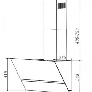 Bản Vẽ Kỹ Thuật Máy Hút Mùi Faster FS 3688SS-70